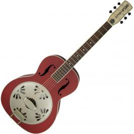 Gretsch G9241 Alligator Biscuit Resonator Guitar Chieftain Red