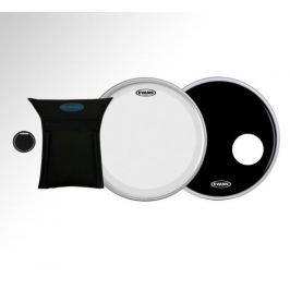 Evans 22'' EQ3 System Clear Bass - Black EQPAD