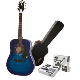 Epiphone PRO-1 Plus Acoustic Blueburst SET