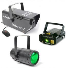 BeamZ Light Set 3 Laser LED Beam Effect and Fog Machine
