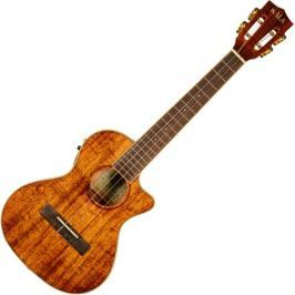 Kala KOA Series Tenor Ukulele with Cutaway EQ High Polish