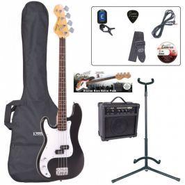 Encore EBP-LHE4BLK Bass Guitar Left Hand Outfit Black