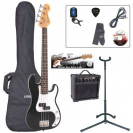 Encore EBP-E20BLK 7/8 Bass Guitar Outfit Gloss Black