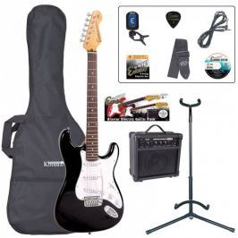 Encore EBP-E6BLK Electric Guitar Outfit Gloss Black
