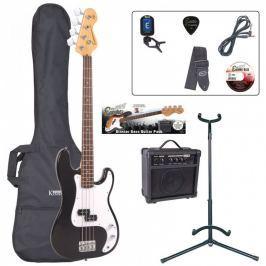 Encore EBP-E4BLK Bass Guitar Outfit Black