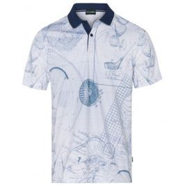 Golfino Mens Printed Polo With Striped Collar 550 54