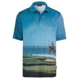 Golfino Mens Allover Printed Short Sleeve Polo 673 54