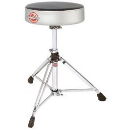 Gibraltar 6608RSG Double Braced Round Drum Throne Grey Silver