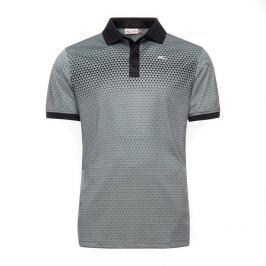 Kjus Men Spot Printed Polo S/S Black Steel Grey 50