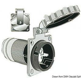 Osculati Marinco 3-wire bipolar monophase socket AISI 316 63A
