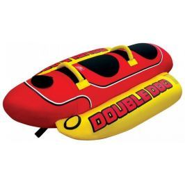 Airhead Towable Double Dog 2 Persons red/yellow