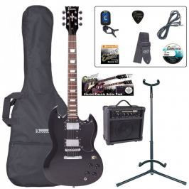 Encore EBP-E69BLK Electric Guitar Outfit Gloss Black (B-Stock) #909785