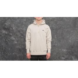 Aimé Leon Dore Quarter Zip Hooded Sweatshirt Oatmeal