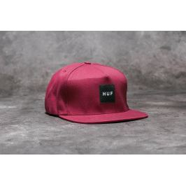 HUF Apparel Cap Box Logo Snapback Wine