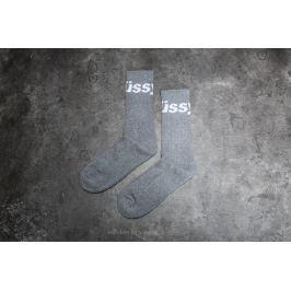 Stüssy Jacquard Logo Socks Grey Heather