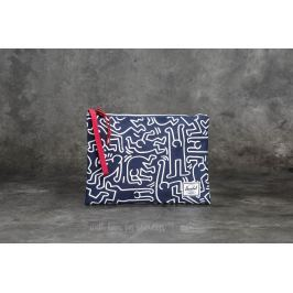 Herschel Supply Co. Network Large Pouch Peacoat Keith Haring