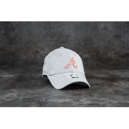 New Era 9Forty Women Jersey Essential Atlanta Braves Cap Grey/ Pink