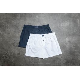 Tommy Hilfiger 2 Pack Woven Boxer White/ Navy Blazer