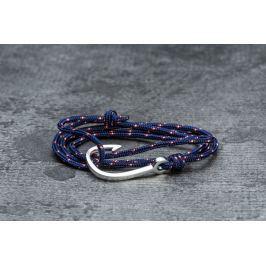 Miansai Hook On Rope Bracelet Silver/ Navy Blue