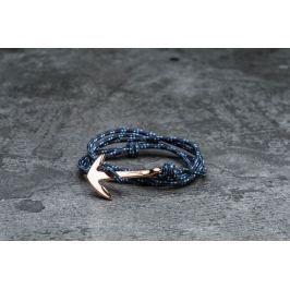 Miansai Anchor On Rope Bracelet Rose/ Indigo
