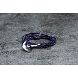 Miansai Anchor On Rope Bracelet Silver/ Navy Blue