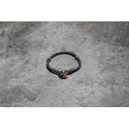 Rebel Heritage Lys Leather Bracelet Black/ Rose Gold