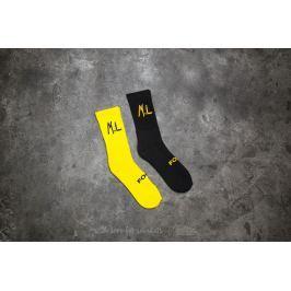 Footshop x UKNOW x M.L Crew Sock Yellow/ Black