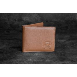 Herschel Supply Co. Hank Leather Wallet Tan Pebbled Leather