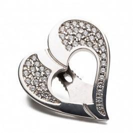 Shoeclipper Glittery Love Silver