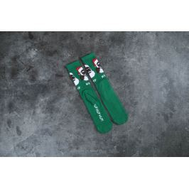 HUF December Dudes Series Sock Green