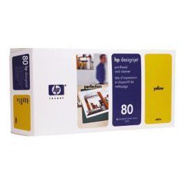 HP 80 - C4823A - cabezal de impresión con limpiador - amarillo