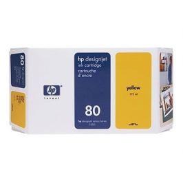 HP 80 - C4873A - cartucho de impresión - amarillo