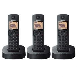 Panasonic Teléfono KX-TGC313SPB Trio Negro