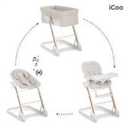 Convertible 3 en 1 iCoo Grow With me 123 (Minicuna, Hamaca y Trona)