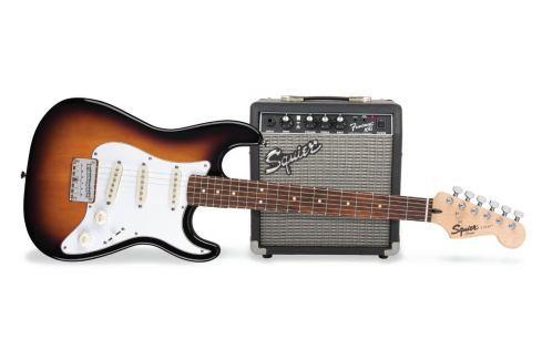 Fender Squier Strat Pack SSS Brown Sunburst Packs de guitarra eléctrica