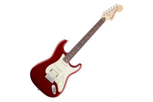 Fender Deluxe Stratocaster HSS Pau Ferro Candy Apple Red Modelos ST