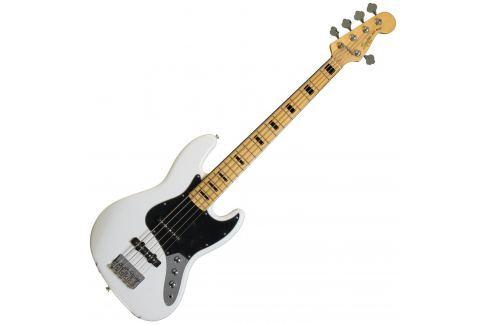 Fender Squier Vintage Modified Jazz Bass V 5 String Olympic White Bajos J de 5 cuerdas