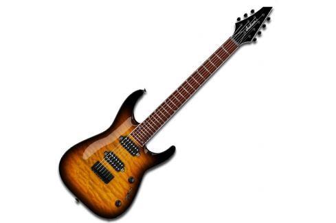 Jackson JS32-7Q Dinky Tobacco Burst Guitarras eléctricas de 7 cuerdas