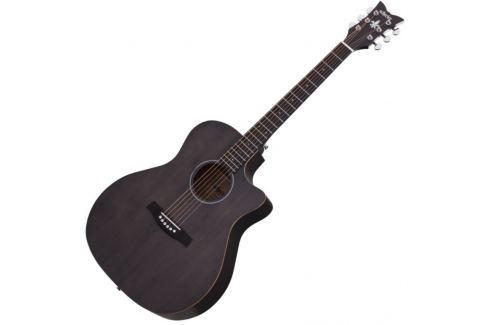 Schecter Deluxe Acoustic Satin See Thru Black Guitarras acústicas de signatura