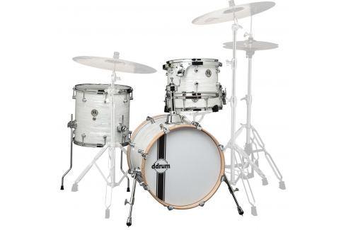 DDRUM SE Bop Kit In White Marine Pearl Finish Conjuntos de batería acústica Jazz 20-10-12-14
