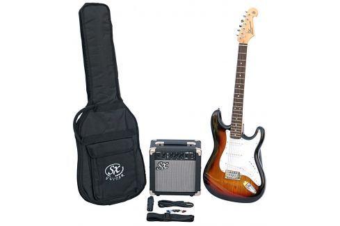 SX SE1 Electric Guitar Kit 3-Tone Sunburst Packs de guitarra eléctrica