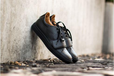 Marco Laganà Sneaker Strap Black Leather - Black Sole Zapatillas mujer